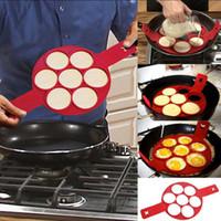 Flippin Fantastic Natstick Pancake Maker Egg Ring Maker façon facile de faire du petit déjeuner Cuisine Boulangerie 120pcs OOA1383