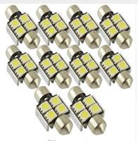 100PCS canbus 12V 36mm 4SMD 5050 LED Car Auto Light Bulbs LE...