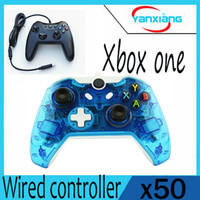 50pcs 2017 Black Wired Controller pour XBOX One Double vibration Joystick Gamepad pour Xbox One YX-one-02
