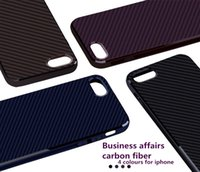 Pour IPhone7 cas de téléphone cellulaire TPU motif de fibre de carbone d'affaires de l'iphone 7plus coquille de téléphone mobile pure manche doublure à carreaux de protection
