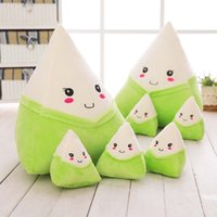 Kawaii Riz Dumpling Peluche Pillow Dolls The Dragon Boat Festival Traditionnel Chinois Dumplings Peluches Toys Creative Cartoon Coussin Oreillers
