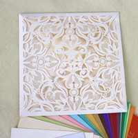 Wed invitation card laser cut folded invitation valentine in...