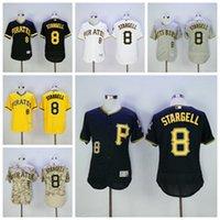 Pittsburgh Pirates 8 Willie Stargell Jersey Cream Yellow 197...