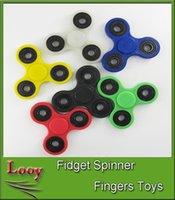 2017 En stock Fidget Spinner jouet à trois doigts HandSpinner r Jouet EDC non imprimé 3D pour décompression Anxiété Jouets Acier inoxydable Jouets