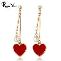 RAVIMOUR New Boucle d' oreille Heart Earrings for Women ...