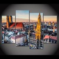 Холст Живопись 4 часть искусства холст Мюнхен Германия Бавария HD напечатаны Home Decor стены искусства плакат Изображение для гостиной XA025C