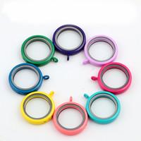 Мода Красочные плавающей Lockets 30 мм сплава плавающей Locket Подвески Магнитные стеклянные рамы Locket Подвеска ожерелье ювелирные изделия
