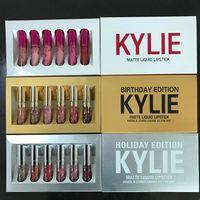 En stock Nouveau kylie Jenner Lipkit Saint Valentin / fête / anniversaire Edition KYLIE 6pcs un ensemble Lipstick Haute Qualité vente chaude livraison gratuite