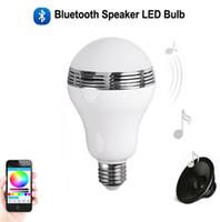 Smart LED Bulb Speaker 3W E27 LED RGB Lampe à musique légère Lampe Changement de couleur sous le contrôle d'une application Smart Home