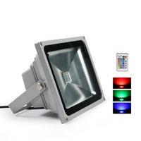 RGB Светодиодный прожектор 10W 20W 30W 50W открытый Прожекторы Водонепроницаемый CE ROHS IP65 Пейзажная светильник с дистанционным управлением AC 85-265V