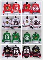 19 Jonathan Toews Stitched Ice Hockey Jerseys 88 Patrick Kan...
