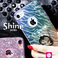 Shiny Phone Case with Ring Stand for iphone 7 6 6s plus Blin...