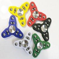 DNA Spin bola de acero Spinner mano Triángulo plástico Fidget Spinner juguetes de la descompresión ansiedad dedo Juguetes 6 colores OOA1543