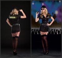 2017 Sexy Черный Женский полиции Ролевая игра платье таможенной полиции Равномерное Косплей Sexy