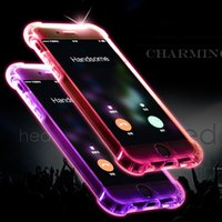 For iphone 7Plus Case LED Flash Incoming Call Light- up Shock...