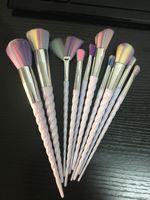 2017 Makeup Brushes Set 10pcs Vander Multipurpose Kabuki Blu...