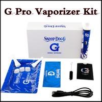 En existencia G pro Vaporizador kit Azul y Whte Gpro Dry hierba vaporizador pluma con 2200mAh batería a través de DHL