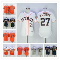 Jose Altuve Jersey #27 Houston Astros Baseball Jersey Flexba...