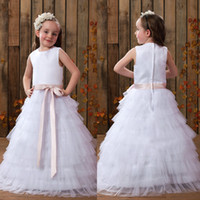 2017 New A- Line Flower Girls' Dresses For Wedding Party...