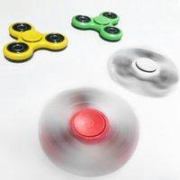 2017 New Stock HandSpinner EDC Fidget Spinner Beyblade EDC Triangle Fidget Papier acrylique en plastique Ball Focus Toy EDC Finger Spinning