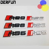 Audi Zinc alloy 11*3 CM Tail badge For RS3 RS4 RS5 RS6 RS7 R...