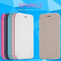 NILLKIN SPARKLE série Etui en cuir pour iphone 7 Coque en cuir pour 7plus shopping gratuit de DHL