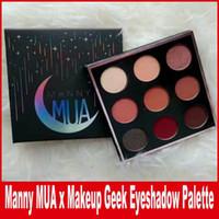Горячий новый Manny MUA x Макияж Geek палитры Eyeshadow LE BNIB Высокое качество палитры Eyeshadow 9color / pc