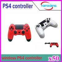 Pour PS4 Wireless Bluetooth Game Controller Gamepad Double Shock Joystick pour Android Jeux vidéo pour ordinateur 50pcs YX-PS4-01