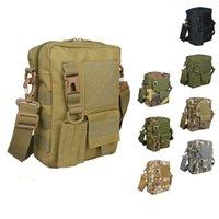 Atacado-Men Camouflage sacos Vintage Casual sacos Sacos de lona Sling tático série Militar Shoulder Bags Caminhando Satchel A0431