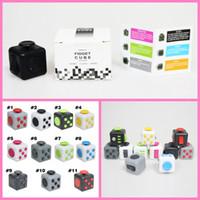 14 цветов 2017 Magic Fidget Cube Camo Colors Анти-тревожная декомпрессионная игрушка Взрослые облегчение стресса Детские игрушки Подарок на складе Fast DHL Shipping