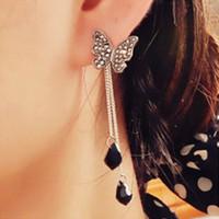 Tassel earrings Green earrings Women jewelry
