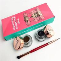 Hot Juvia's Place Le SAHARAN Gel Eyeliner Brush Bundle Brun et Noir 2 Corlors Haute Qualité