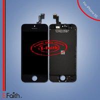 Pour iPhone 5S Ecran LCD noir Écran tactile Numériseur complet Assemblage livraison gratuite DHL