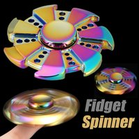 HandSpinner Fingertips Spirale Fingers Fidget Spinner Réducteur de stress Focus Toy EDC Acrylique Colorful Metal Fidgets Jouets Gyro Toys With Package