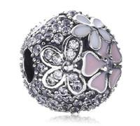 2017 Spring Collection fleur en argent sterling Clip Charm Fit pour Bracelet Pandora européenne Bijoux Designer