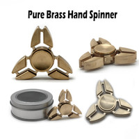 Pure Brass Hand Spinner Cuivre Finger EDC Toy Fidget Spinner Décompression Anxiété Jouets Tri-spinner Luxery vs Fidget Cubes