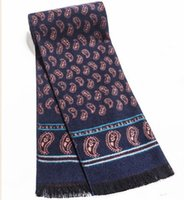 Wholesale- Luxury brand Men winter scarf real cashmere Scarf ...