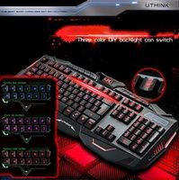 V100 English Version Computer Gaming Keyboard Mouse Mice Set...