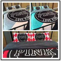 Pink Bedding Set Pink Letter Bed Sheet Love Pink Pillowcases...