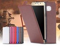 Funda de teléfono inteligente de alta calidad de la caja vertical hacia arriba y hacia abajo de la funda de cuero para Samsung galaxia j7
