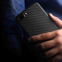 Pour Apple iphone7 iPhone 7Plus Ultra mince carbone fibre de texture cas de protection PP couvrir Usure n'est pas déformé