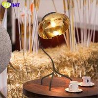 Modern Mirror Gold Table Lamp Creative Art Metal Living Room...
