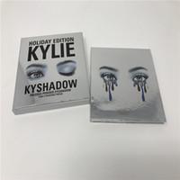 Dropshipping nouvelle édition de vacances Kyshadow THE BURGUNDY PALETTE Kylie cosmétiques Jenner ombre à paupières Kit Palette Bronze Cosmétique 9 couleurs