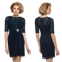 Modern Lace Half Sleeves Plus Size Mother Of The Bride Dress...