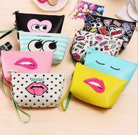 2017 Fashion Modern girl PU material Make Up Bag Lady' s...