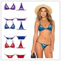 2017 Maillots de bain Nouveau Design pour Femmes Trangel Bikini Set / 2pcs Maillot de bain brodé Floral Monokini QP0212 i