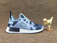 Drop Shipping With Box NMD XR1 x Glitch Black White Blue Cam...