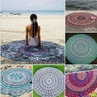 Indian Mandala Tapicería Bohemia Hippie Bikini Beach Cover Ups Beach Toalla Beachwear Playa Sarongs Mantón Yoga Tapa de la mesa de la tabla CCA5615 10pcs