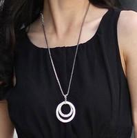 Round necklace with diamonds NEW Fashion Jewelry For Women C...