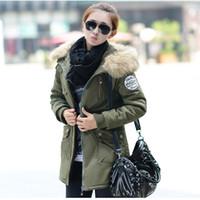 4XL Notícias inverno mulheres parka casaco exército verde 2016 na moda longa grosso verde casaco colar de espessamento casaco jaqueta feminino H129